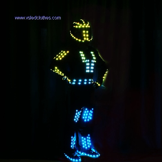 Tron dance LED Robot Outfit