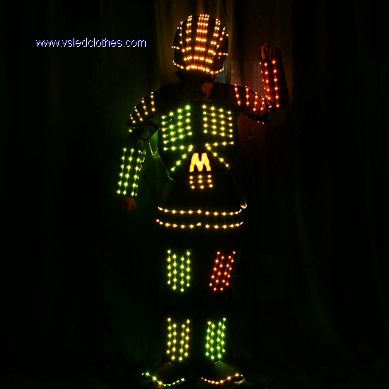 DMX512 controlled Robot LED costumes