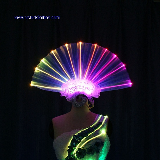 LED Light up Fiber Optic head wear