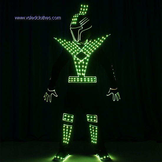 Full Color LED & Fiber optic Jumpusit WithMask, gloves, shoes cover