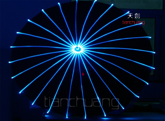 Full color LED Light Fiber Optic Umbrella