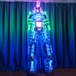 3D Stilts LED Walking Robot Costumes