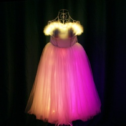 Full color LED Bandeau Dress