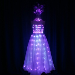 Full color LED Performance Dress With Light up Headwear