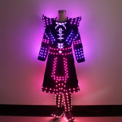 LED Ancient Warrior Soldier Samurai knight Performance Costume
