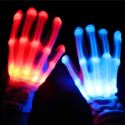 Light up skeleton gloves