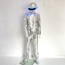 Mirror suits with led mirror daftpunk helmet