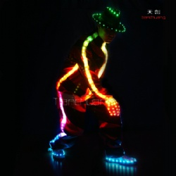Michael Jackson style LED Dance Clothes