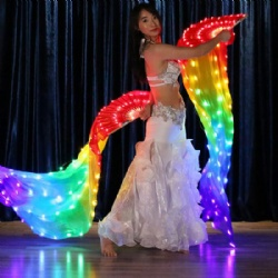 LED light up dance fan