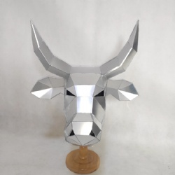 Mirror cow helmet