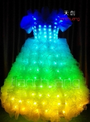 LED Lighting Stage long Dress