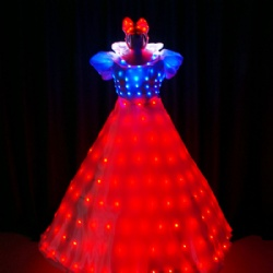 Full color LED Princess Dress