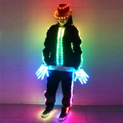 DMX512 Controlled LED Dance Jacket & Hat