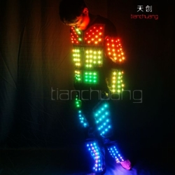 DMX512 Controlled LED Jumpsuits